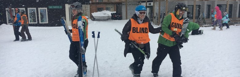 Krista Giannak Blind Skier Vermont Adaptive USABA Group Photo