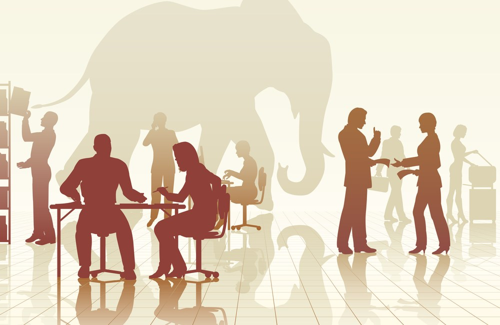 Elephant in the office unspoken marketing public relations challenge