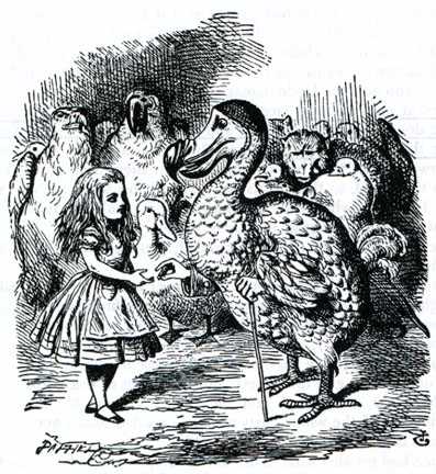 Illustration Alice in Wonderland and the Dodo