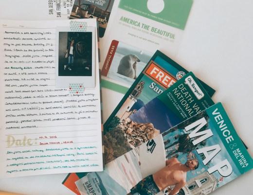 Cestovní deník, lístky, mapy