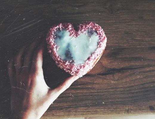 donut ve tvaru srdce
