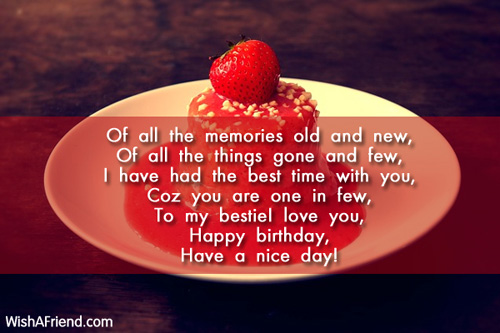 Of All The Memories Old And Best Friend Birthday Wish