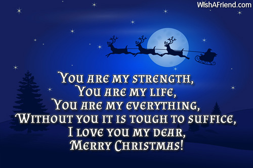 You Are My Strength You Are Christmas Message For Daughter