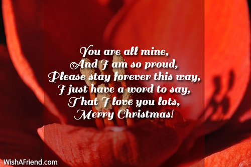 You Are All Mine And I Christmas Message For Husband