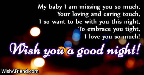 My Baby I Am Missing You Good Night Message For Boyfriend