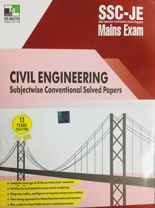 CIVIL ENGINEERING SSC JE MAINS EXAM By IES MASTER PUBLICATION