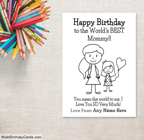 Handmade Happy Birthday Mom From Daughter Cards