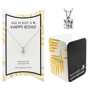 AGE IS JUST A # HAPPY-BDAY NECKLACE