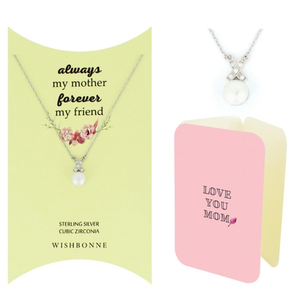 Mom Pearl Pendant Necklace