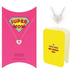 MOM HEART LOCK NECKLACE GIFT SET