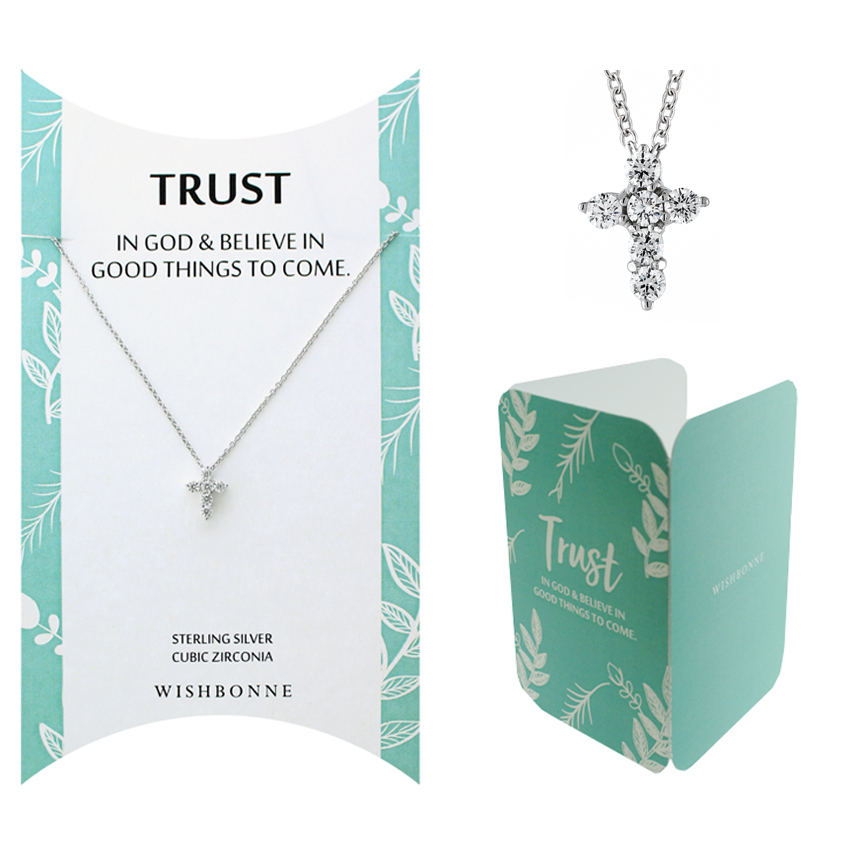 Biblical Trust Cross Necklace