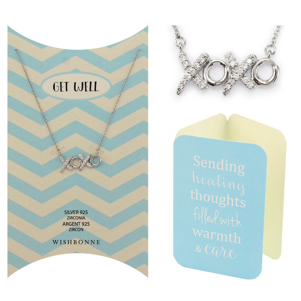 Get Well XOXO Necklace