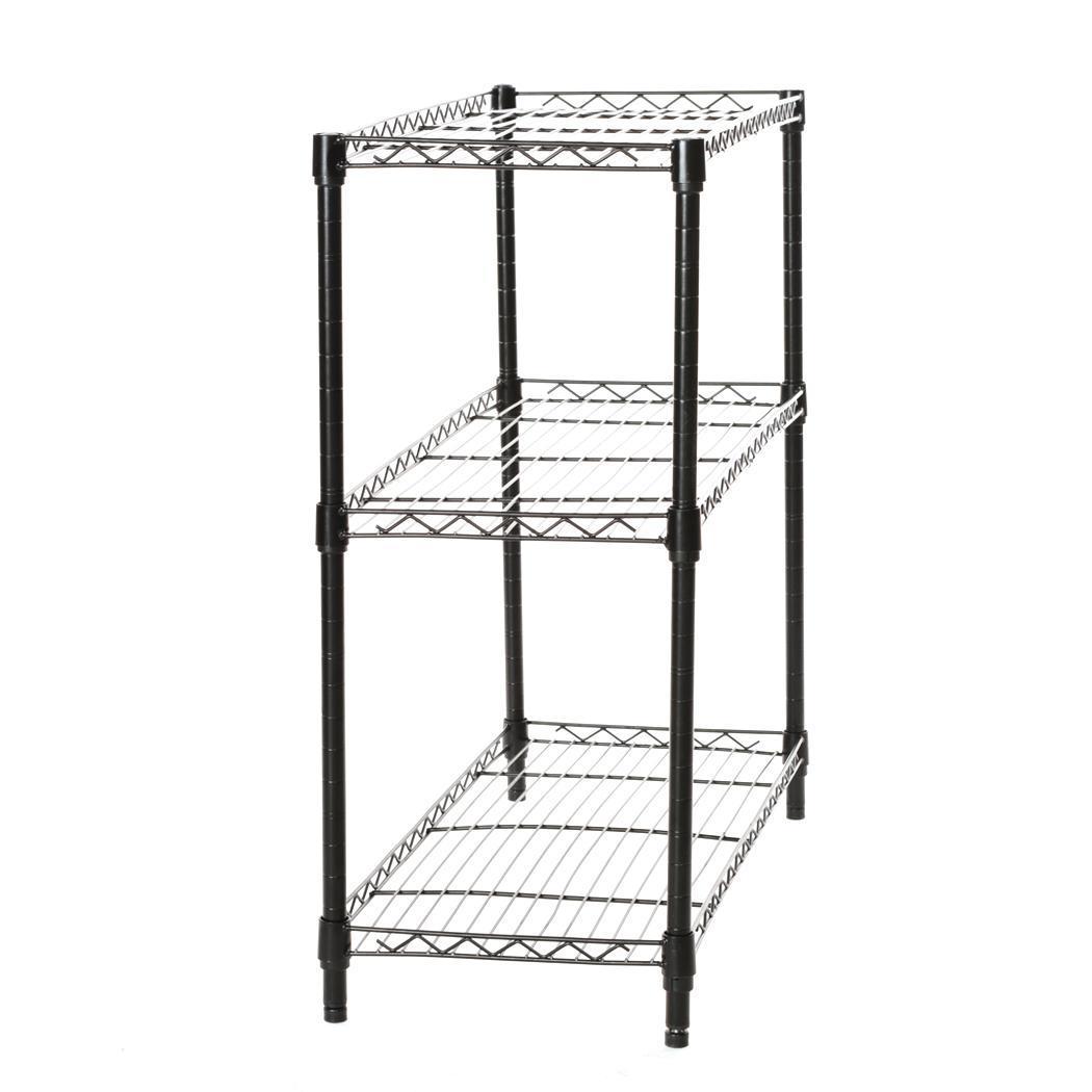 Durable 3 Tier Shelf Adjustable Steel Metal Wire Shelving