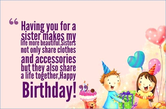 Happy Birthday Wishes Sister