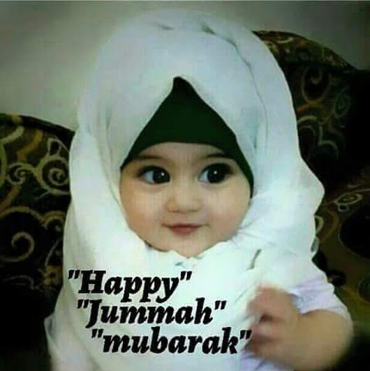 jumma mubarak with a cute girl