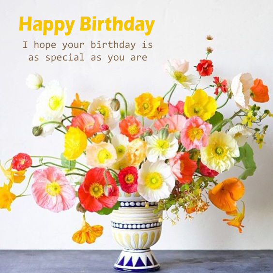 Free Happy Birthday Flower Pics Happy Birthday Wishes Memes Sms Greeting Ecard Images