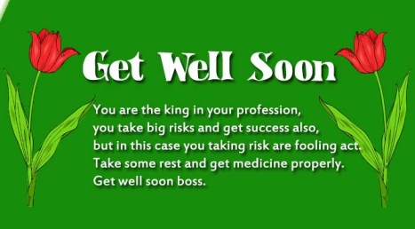 Get Well Soon Messages for Boss | Wishes4Lover