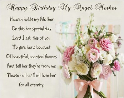 birthday wishes for mom in heaven