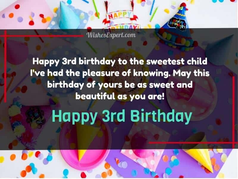 20 Cute 3rd Birthday Wishes For Kids With Images Wishes Expert