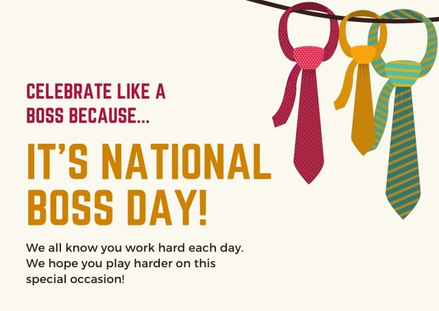 Happy Boss's Day Wishes