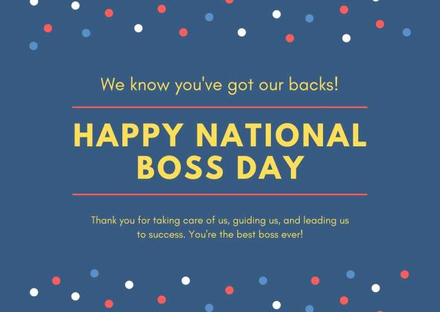 Happy National Boss Day Wishes