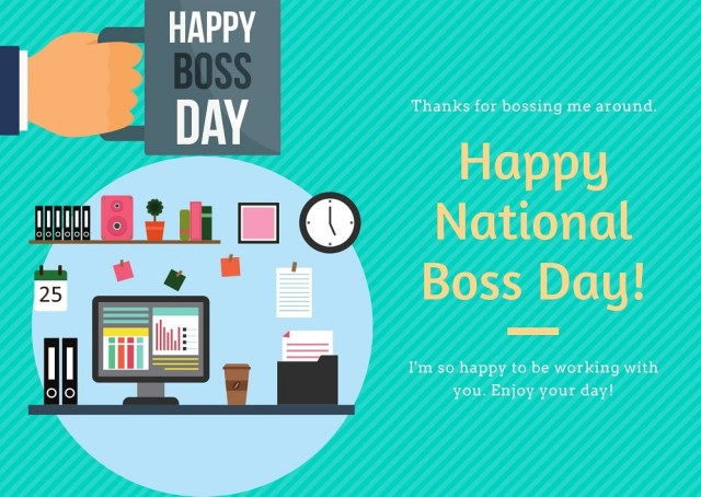 National Boss Day Card