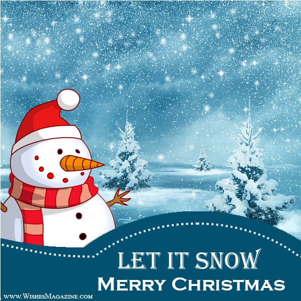 Merry Christmas greeting Cards Let It Snow Christmas Card Ideas