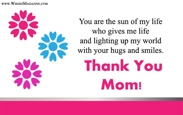 Thank You Messages For Mom