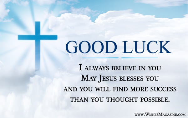 Religious good luck greeting card wishes magazine religious good luck greeting card m4hsunfo