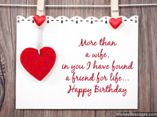 Birthday Wishes For Wife Quotes And Messages Wishesmessages Com