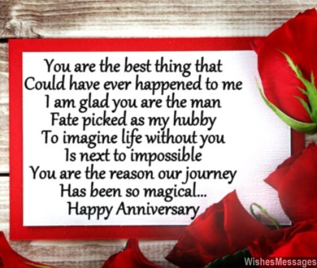 Happy Anniversary Poem For Husband Greeting Card