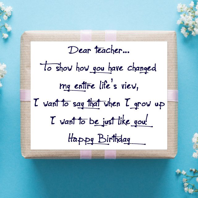 Birthday Wishes For Teachers Quotes And Messages Wishesmessages Com