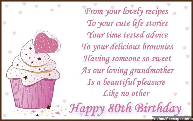 80th Birthday Wishes Wishesmessages Com