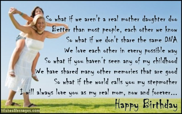 Birthday Poems For Stepmom Wishesmessages Com