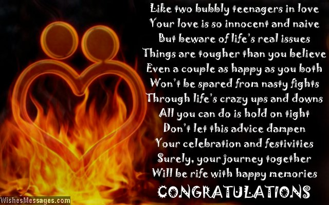 Funny Engagement Card Poems Congratulations For