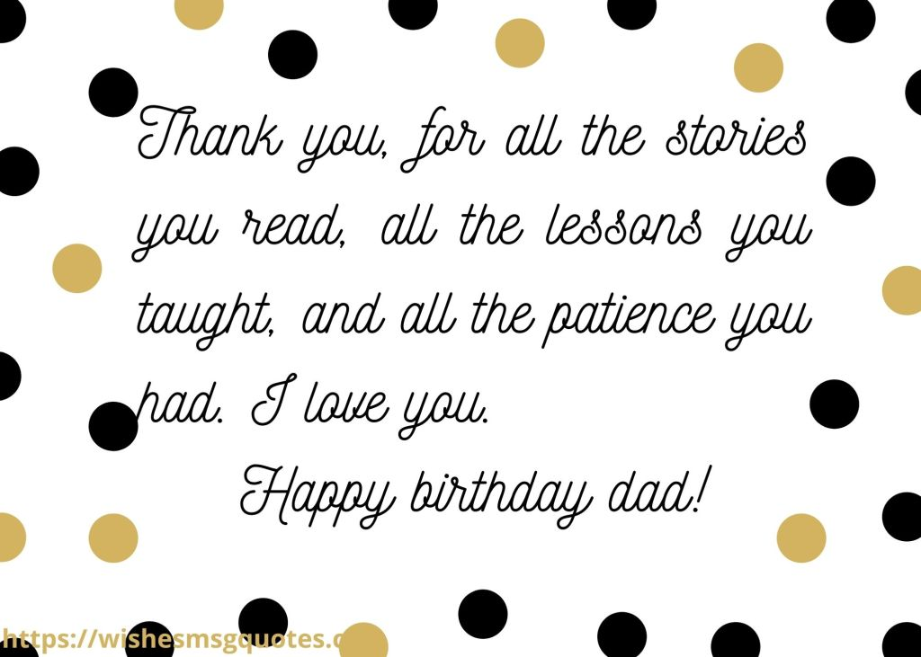 Birthday Messages for Dad from Son
