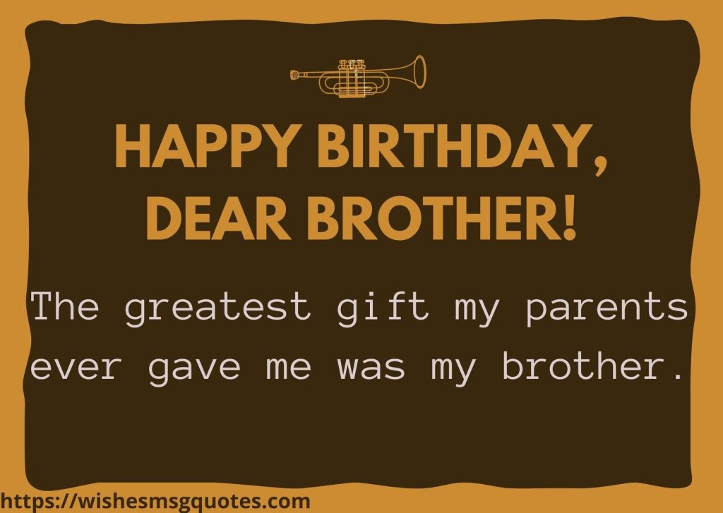 Birthday Messages For Brother From Brother