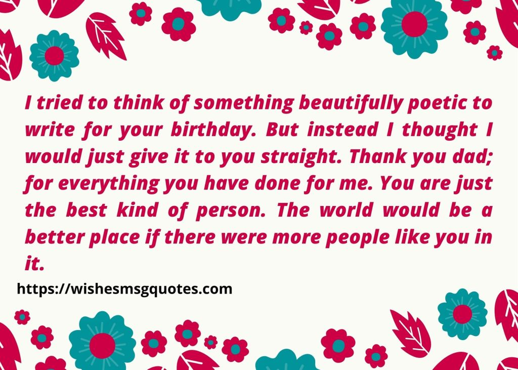 Inspirational Birthday Quotes for Father