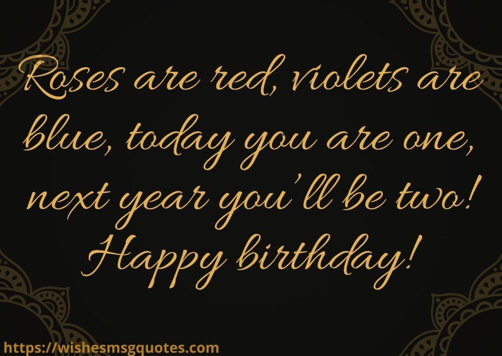 Birthday Wishes For Baby Girl 1st Birthday