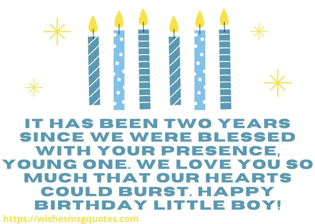 2nd Birthday Wishes From Grandmother To Baby Boy