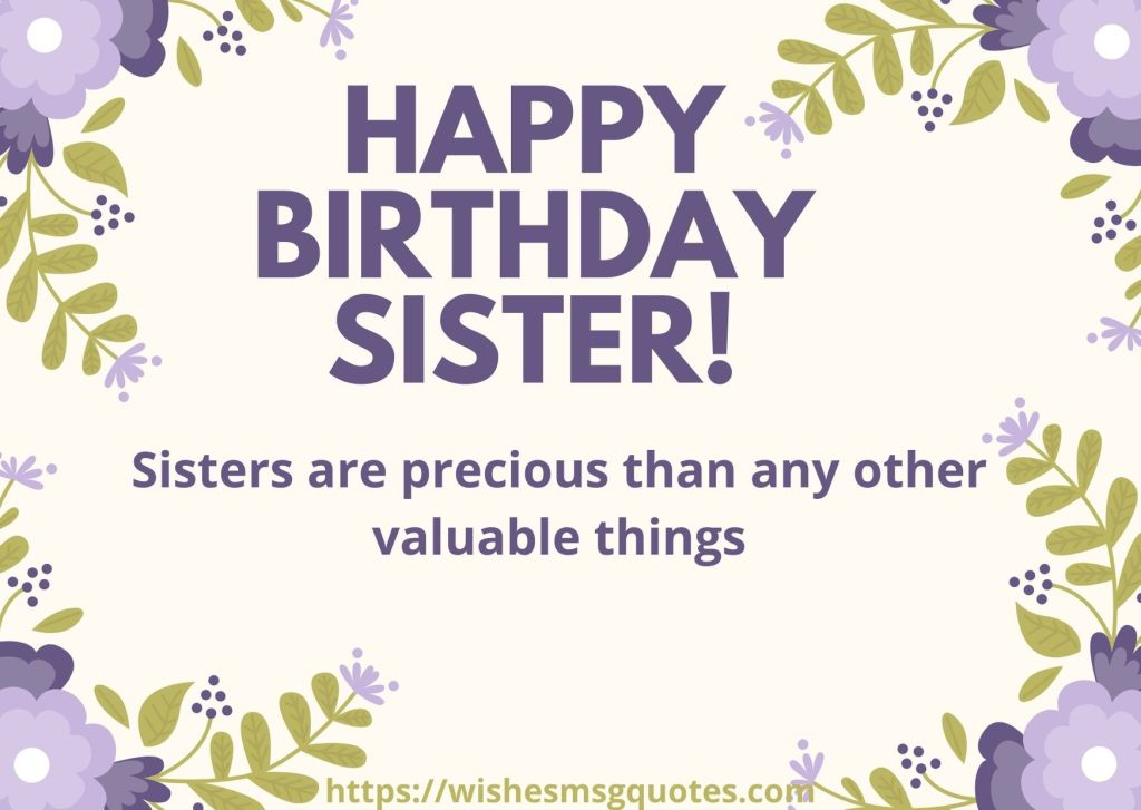 Birthday Quotes For Sis