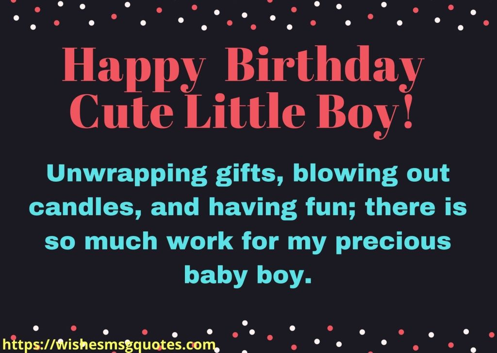Birthday Wishes From Mother To Baby Boy