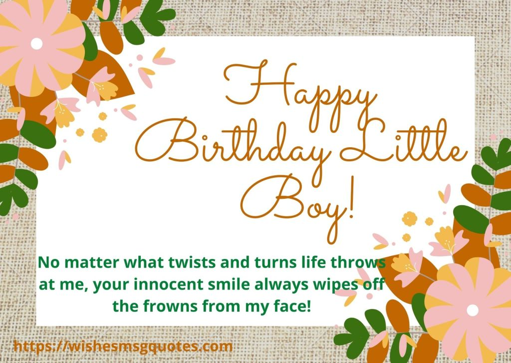 Inspirational Birthday Wishes For Baby Boy