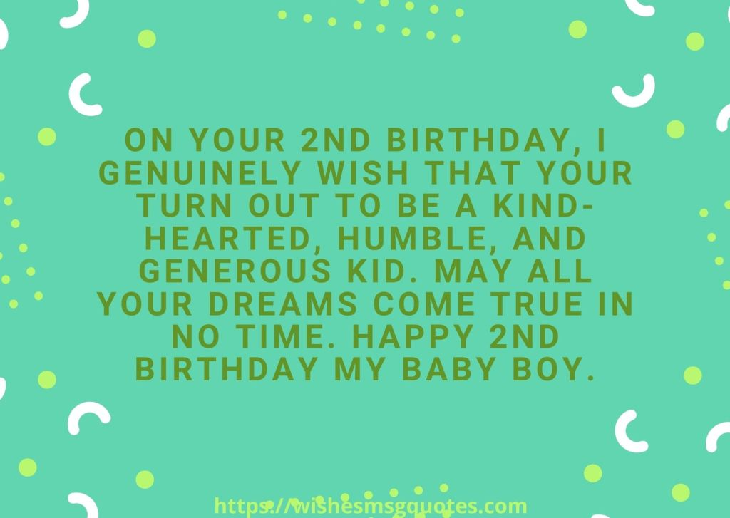 Cutest 2nd Birthday Messages For Baby Boy From Father