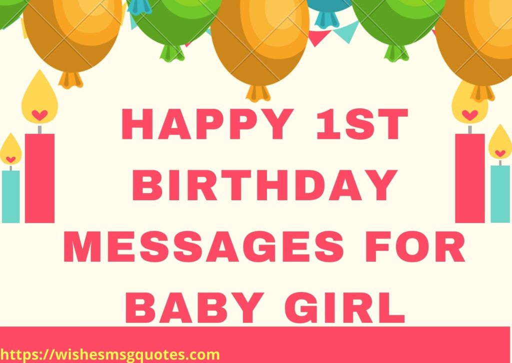 Happy 1st Birthday Messages For Baby Girl