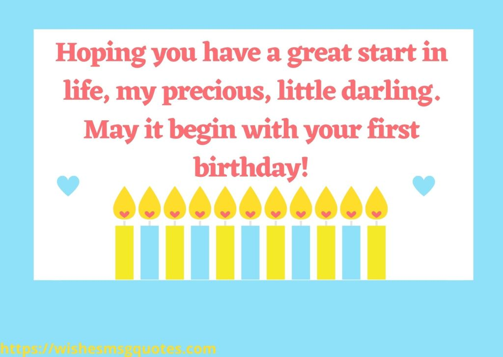 1st Birthday Messages For Baby Girl