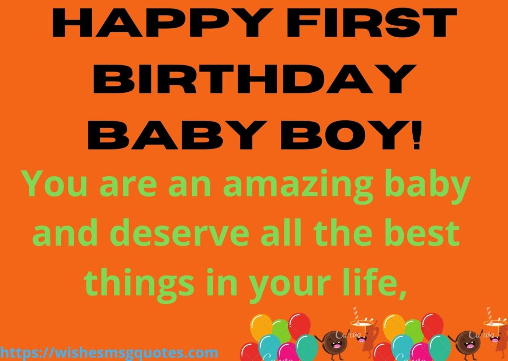 1st Birthday Quotes From Uncle To Baby Boy