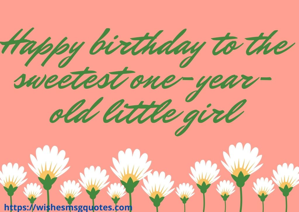 Cutest 1st Birthday Messages For Baby Girl From Father