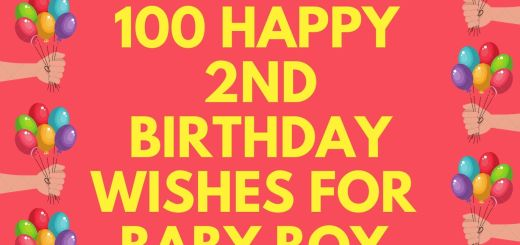 100 Happy 2nd Birthday Wishes For Baby Boy