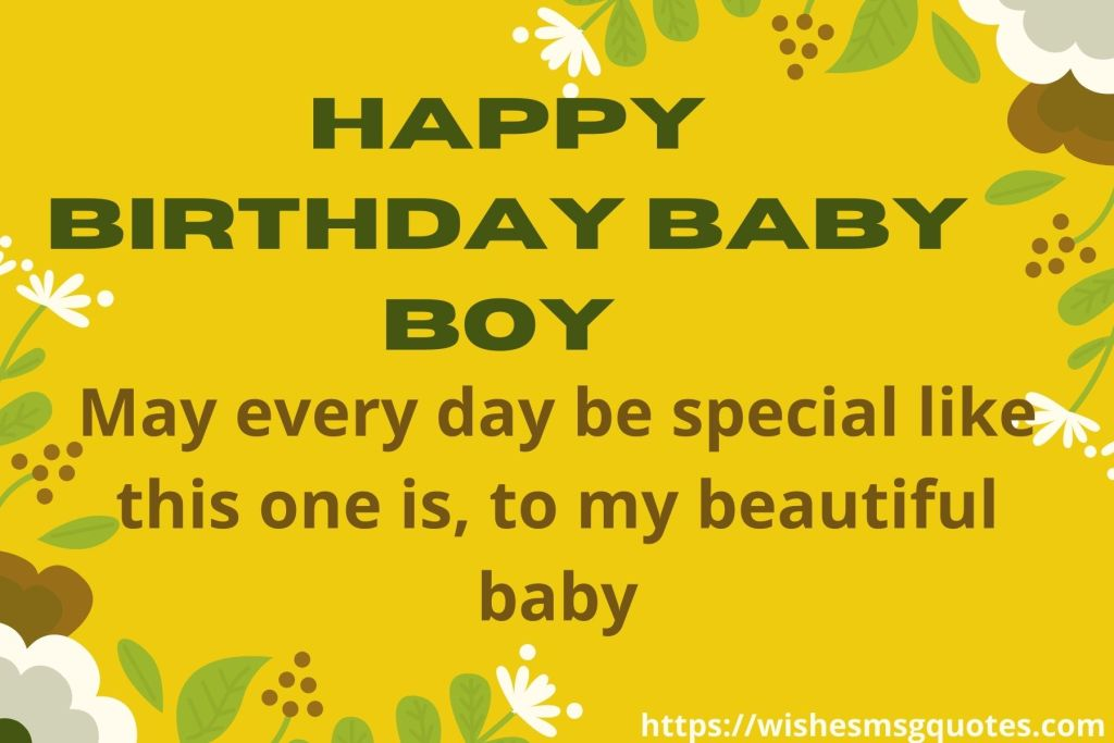 1st Birthday Quotes For Baby Boy